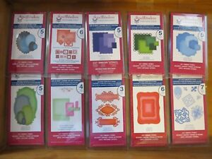 LOT OF 32 SPELLBINDERS DIE SETS no duplicates labels squares circles more new