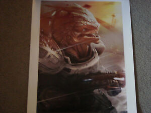 Mass Effect Grunt Lithograph signed numbered 288500 litho ME 2 3 limited