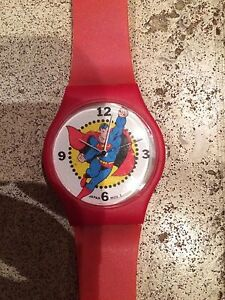 Superman Watch 50th Birthday Red Armour Celebrates DC Comics 1987 Promo $55.00