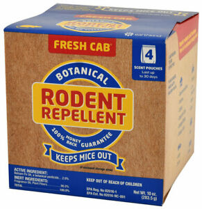 Fresh Cab Botanical Rodent Repellent Mouse Mice (1 Box / 4 Pouches) Earth Kind