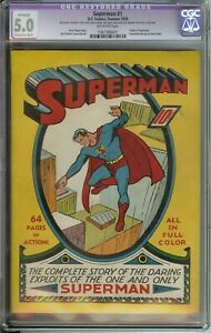 SUPERMAN #1 CGC 5.0 OW PAGES