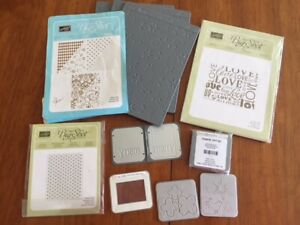 Stampin' Up-Sizzix Snow Flurry Lots of Love Sizzlits Embosslits