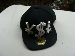 Paislee Snapback YSL Mens Cap Hat Black White 3D Letters Steel Rivets Bolted