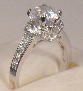 2.00 Ct Round Diamond Solitaire Engagement Promise ring Size 9 White Gold ov