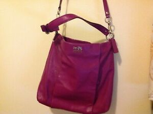 Coach Madison Isabelle Leather crossbody Hobo Convertible purse tote bag 21224