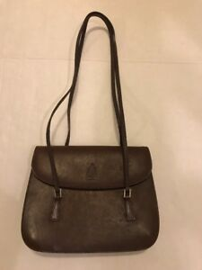 Mark Cross New York Brown Leather Shoulder Bag