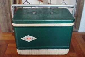 American Camping Supplies Coleman Cooler Box Plastic Vintage Very Rare FS O3
