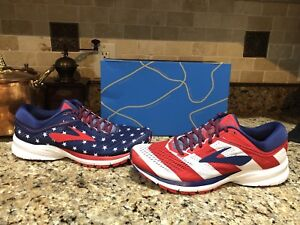 Brooks Launch 5 Victory Stars Stripes 4th USA Men's Running Shoes NEW 13
