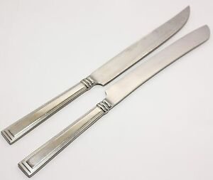 SERVING KNIVES (2) HAMPTON SILVERSMITHS STAINLESS STEEL 11 5/8