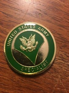 New Military Collector Coin  - Specialist - US Army Coin Item