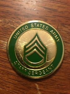 New Military Collector Coin  - Staff Sergeant - Army Coin Item
