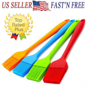 2 5PCS 8quot; Silicone Basting Pastry Barbecue oil Brush for BBQ Kitchen