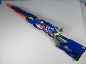 Nerf N-Strike LongStrike CS-6 Sniper Rifle Looks Works Great WITH SMALL CLIP