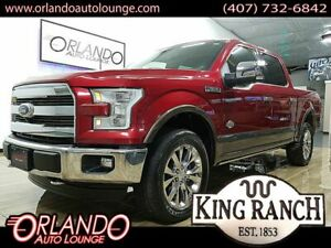 2015 F-150 King Ranch Pickup 4D 6 12 ft 2015 Ford F150 SuperCrew Cab King Ranch Pickup 4D 6 12 ft 97138 Miles RED Picku