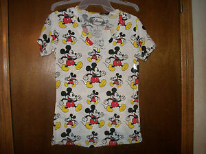 Disney Running Mickey Mouse Juniors NWT T Shirt sz XS or Small $13.00