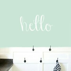 Hello Wall Decal Greeting Welcome Entryway Office Kids Wall Art Sticker