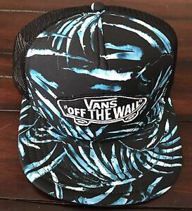 NWT VANS OFF THE WALL CLASSIC PATCH TRUCKER HAT TROPICAL 100% AUTHENTIC