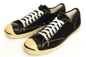 Vintage 1960's Converse Jack Purcell Canvas Sneakers Black US9 27.5cm From US