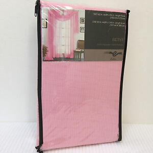 NEW 3PC - Estex *BETSY* DRAPES and Scarf VALANCE PINK 60