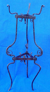 Important 16th century French Renaissance wrought iron basin stand circa 1575