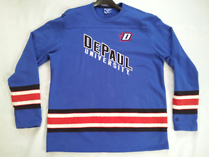 VINTAGE RARE CHAMPION HERITAGE TRADITION DEPAUL UNIVERSITY HOCKEY SWEATSHIRT XL