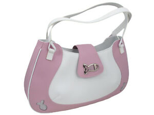 Chopard New Bag Happy Fish Pink and White Leather Bag 95000-0074 Retail: $1130