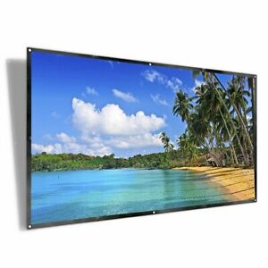 100 inch Projector Screen iRunning 169 HD Foldable Portable Projection Movies...