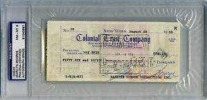 MARILYN MONROE 1958 Signed Check PSADNA Graded NM-MT 8 Autograph Signature REIS