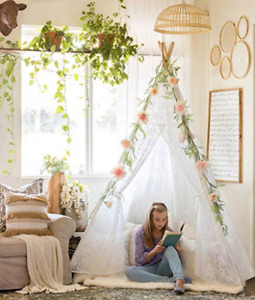 Tiny Land Huge Teepee Luxury Lace Tent for Wedding Party Photo Prop 7.5 Feet