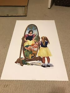 Limited Edition Disney Snow White Charles Boyer Signed Lithograph 2000 HTF!