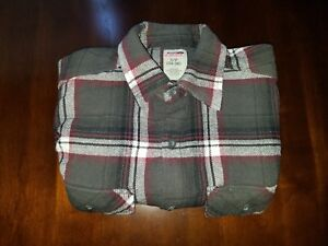Genuine Dickies Small S 34 36 Multi Color Plaid L S Button Up Mens Flannel Shirt