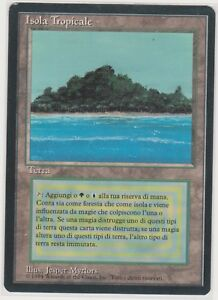 1x Tropical Island FBB Italian MTG Magic High Resolution Scans