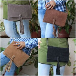 suede leather  handmade handbags for womens