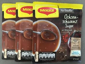 Maggi OXTAIL Soup PACK of 3 6 servings Made in Germany FREE SHIPPING $15.99