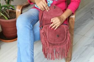 Suede Leather Handmade Stylish shoulder bag for womens
