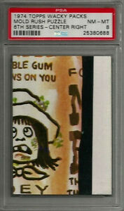 1974 Topps Wacky Packages Mold Rush Puzzle Center Right 6th Ser PSA 8 NM-MT Card