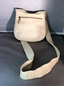DKNY Donna Karen New York Soft Leather Cross Body or Shoulder Bag - Cream