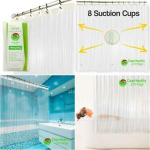 Heavy Duty PEVA Shower Curtain Liner: Odorless & Anti Mold (with Magnets &...