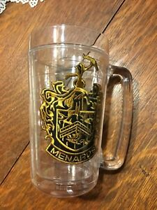 Menards Home Improvement Family Crest Glass Mug Plastic Double Walled