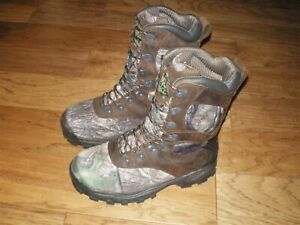 ROCKY 1000gr THINSULATE INSULATED CAMO HUNTING BOOTS SIZE MEN'S 10W NEW