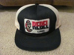 Rebel Lures Mesh Truckers Hat Snapback Vintage Blue White Patch