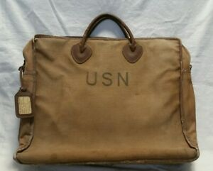 WW2 WWII US Navy Naval Aviator LL Bean Tote Named Pilot Rare Commander