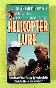 Roland Martin Helicopter Lure VHS Movie Vintage Bass Fishing Video Tape