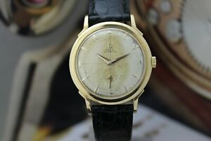 Vintage Omega Automatic Solid Gold 35mm 18k Cal 342 1950 Tropical Dial