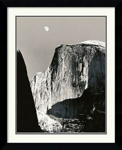 Ansel Adams quot;Moon and Half Domequot; Framed art Double matting Approx. 35x30