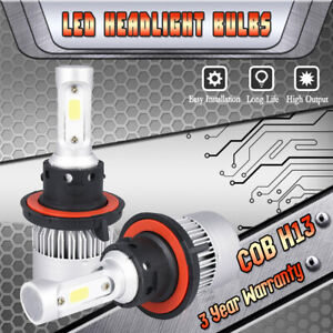 LED Headlight Hi/Low Kit H13 9008 White CREE Bulbs for 2005-2012 FORD Mustang GT