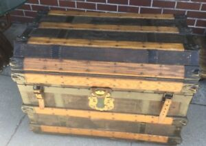 Antique Trunk with Leather and Iron 1870 $500.00