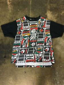 Vintage 90's Air Jordan Authentic By Nike T Shirt Basketball Sports Print XL