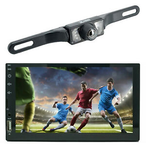 7 2 Din Touch Screen Car MP5 MP3 Player Bluetooth Stereo AM FM Radio USB TF cam $63.99