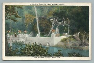 "Arbordale Fountain ""Getting Boiled"" HOT SPRNGS National Park—Antique Arkansas"